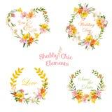 Etichette floreali d'annata, etichette ed insegne - per la maglietta, modo Fotografia Stock