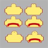 Etichette gialle di acquisto Fotografia Stock