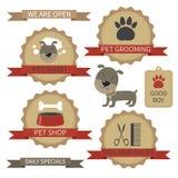 Etichette governare dell'animale domestico illustrazione vettoriale