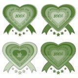Etichette naturali organiche del prodotto di eco di verde 100% Royalty Illustrazione gratis