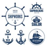 Etichette nautiche Immagine Stock Libera da Diritti
