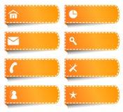 Etichette o bottoni per Internet Fotografia Stock