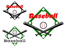 Etichette o distintivi di baseball Fotografia Stock Libera da Diritti
