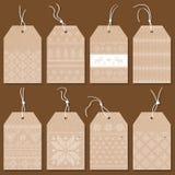 Etichette o etichette di Natale Immagine Stock
