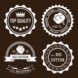 Etichette organiche del cotone Fotografia Stock Libera da Diritti