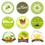 Etichette organiche e naturali Immagine Stock