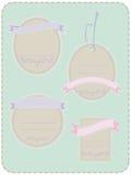 4 etichette pastelli Fotografia Stock