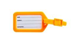 Etichette per bagagli su fondo bianco con il taglio del path1 Fotografia Stock Libera da Diritti