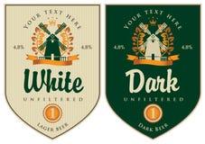 Etichette per birra Fotografia Stock Libera da Diritti