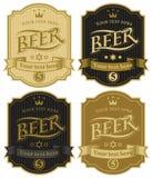 Etichette per birra illustrazione di stock