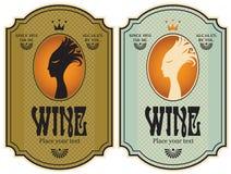 Etichette per vino illustrazione vettoriale