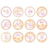 Etichette personali dell'autoadesivo di Candy illustrazione vettoriale