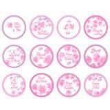 Etichette personali dell'autoadesivo di Candy royalty illustrazione gratis