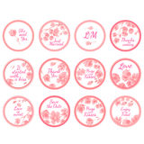 Etichette personali dell'autoadesivo di Candy illustrazione di stock