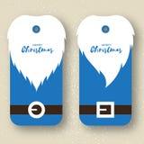 Etichette pronte per l'uso del regalo di Santa Claus Immagini Stock
