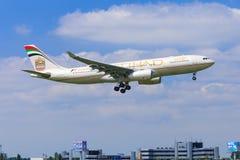 Etihad Airbus A330 Imagen de archivo libre de regalías