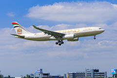 Etihad Airbus A330 Royalty Free Stock Image
