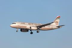Etihad Airways Airbus A320-232 Fotos de Stock Royalty Free