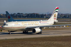 Etihad Airways Airbus A330 stock photography