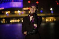 Etihad Airways cabin crew air hostess looking in the sky royalty free stock photos
