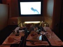 Etihad airways A330. Diamond first-class Royalty Free Stock Photos