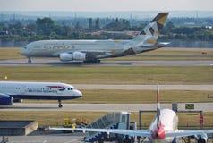 Etihad Airways (EY) Airbus A380 Imagens de Stock