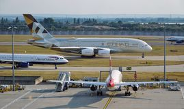 Etihad Airways (EY) Airbus A380 Fotos de Stock