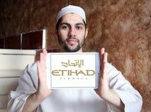 Etihad airways logo stock photography