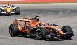 Etihad Aldar Spyker F1 Team F8 Royalty Free Stock Image