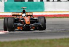 Etihad Aldar Spyker F1 Team F8 stock images