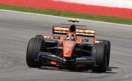 Etihad Aldar Spyker F1 Team F8-VII Christijan Albe royalty free stock photography