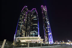 Etihad Góruje w Abu Dhabi Fotografia Royalty Free