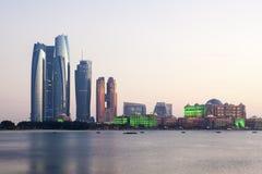 Etihad Góruje w Abu Dhabi, UAE Obraz Stock