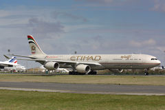 A340 Etihad Stock Photo