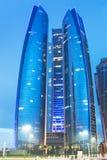 Etihad ragt Gebäude in Abu Dhabi hoch Lizenzfreies Stockfoto