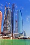 Etihad ragt Gebäude in Abu Dhabi, UAE hoch Stockfotos