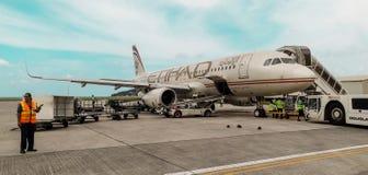 Etihad samolot Obrazy Royalty Free