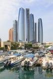 Etihad-Türme in Abu Dhabi Stockbilder