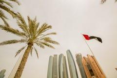 Etihad-Türme in Abu Dhabi Stockfoto