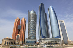 Etihad-Türme in Abu Dhabi, UAE Stockfoto