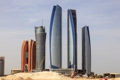 Etihad-Türme in Abu Dhabi, UAE Lizenzfreies Stockfoto