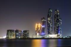 Etihad-Türme in Abu Dhabi, UAE Stockfotos