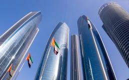 Etihad-Türme in im Stadtzentrum gelegenem Abu Dhabi Lizenzfreie Stockfotografie