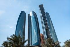 Etihad Towers in Abu Dhab Stock Photos