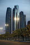 Etihad towers in Abu Dhabi.  Royalty Free Stock Images