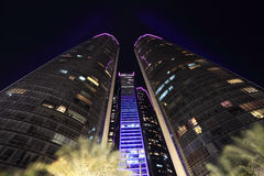 The Etihad Towers in Abu Dhabi Royalty Free Stock Photography
