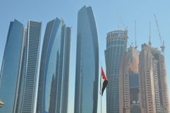 Etihad Towers in Abu Dhabi, UAE Royalty Free Stock Photos