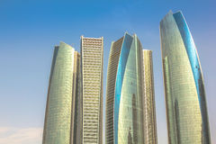 Etihad Towers Abu Dhabi Stock Image
