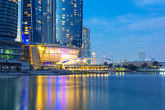 Etihad Towers buildings in Abu Dhabi at night Stock Photography