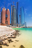 Etihad Towers buildings in Abu Dhabi, UAE Royalty Free Stock Photography